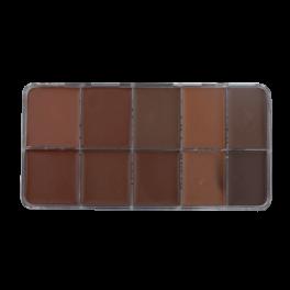 HD Cream Foundation Dark (10) Palette