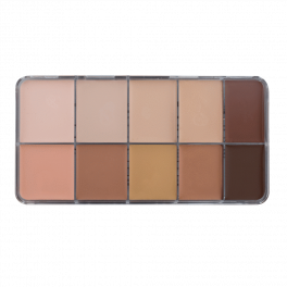 HD Cream Foundation Mixed Palette (10)