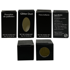 Professional Black Box Glitter