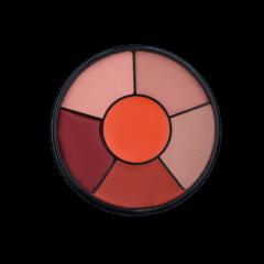 Lipstick Wheel Orangelicious Mattified