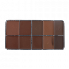 HD Cream Foundation Dark (10) Palette