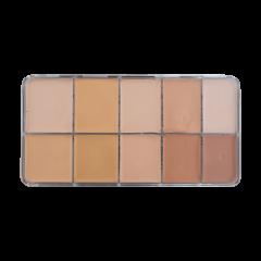 HD Cream Foundation Light Palette (10) - Large
