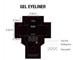 Professional Black Box Gel Eyeliner Box